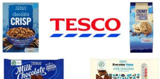 Fine quality chocolate cakes by Tesco recalled for labeling errors.