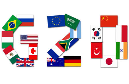 The Group of Twenty (G20 Summit) is an informal forum for international cooperation, and consists of 19 major economies plus the European Union.