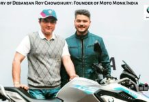 The Story of Debanjan Roy Chowdhury: Founder of Moto Monk India