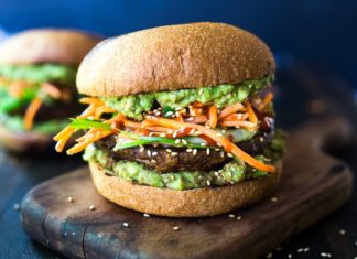Recipe 中文 : How To Prepare Spicy Miso Portobello Mushroom Burger?